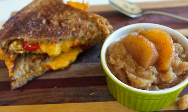 rto roasted apple sauce and grilled cheese